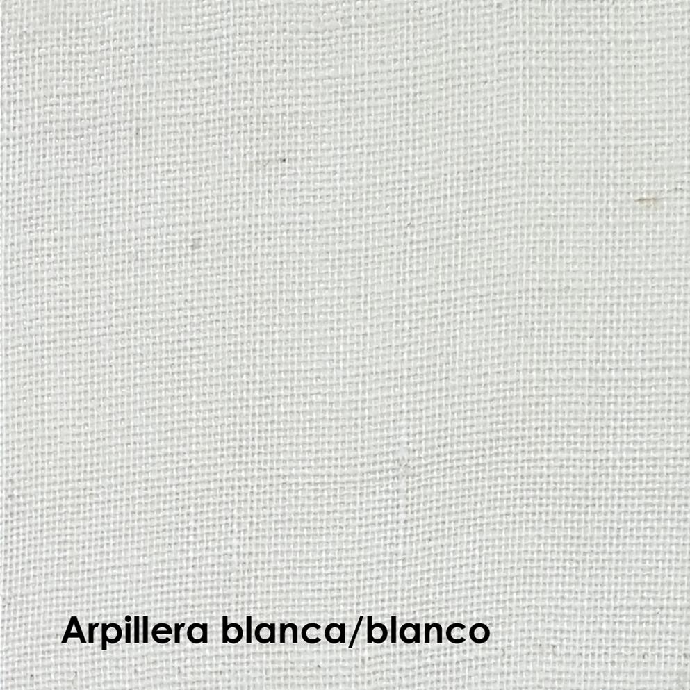 arpillera laqueada blanca