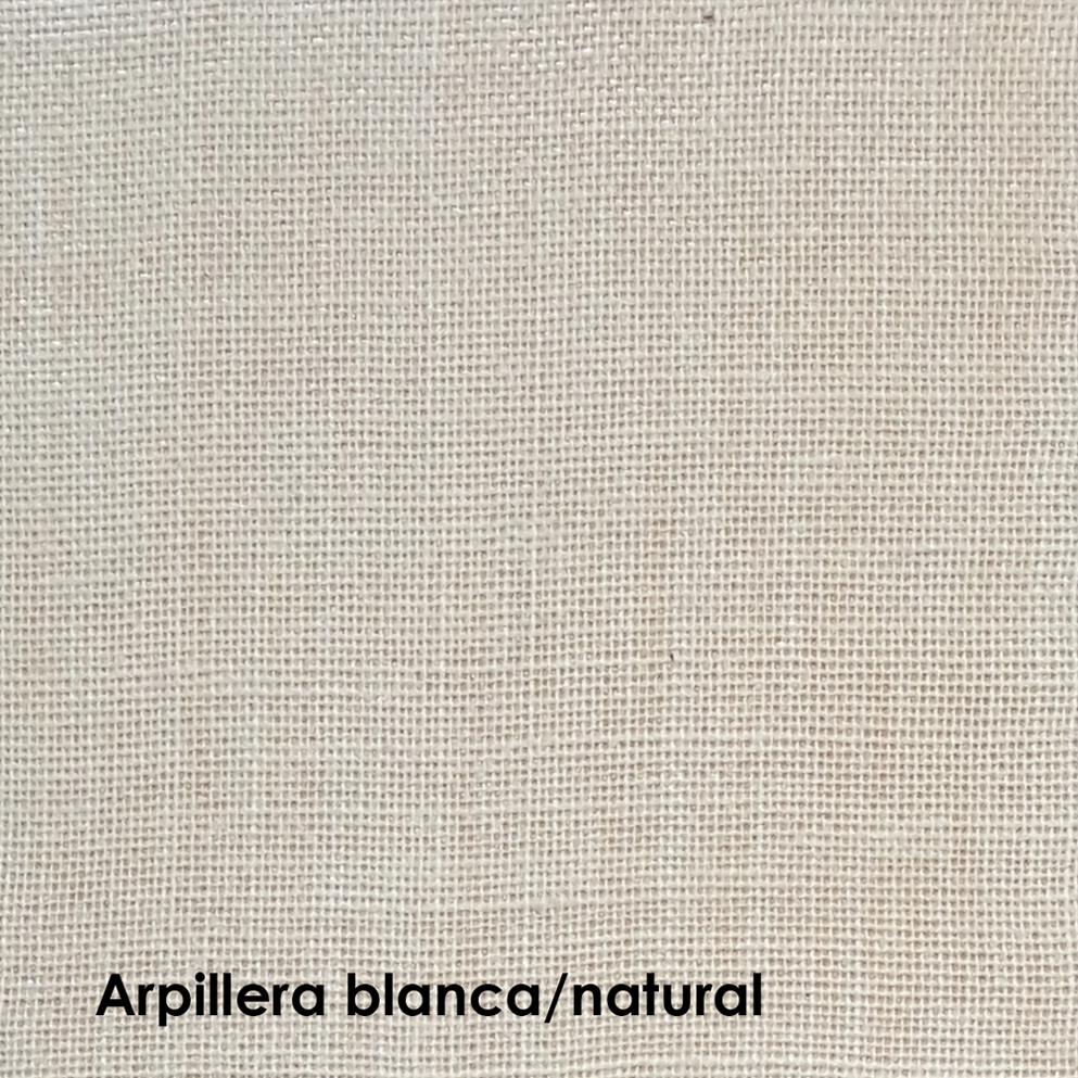 arpillera blanca laqueada