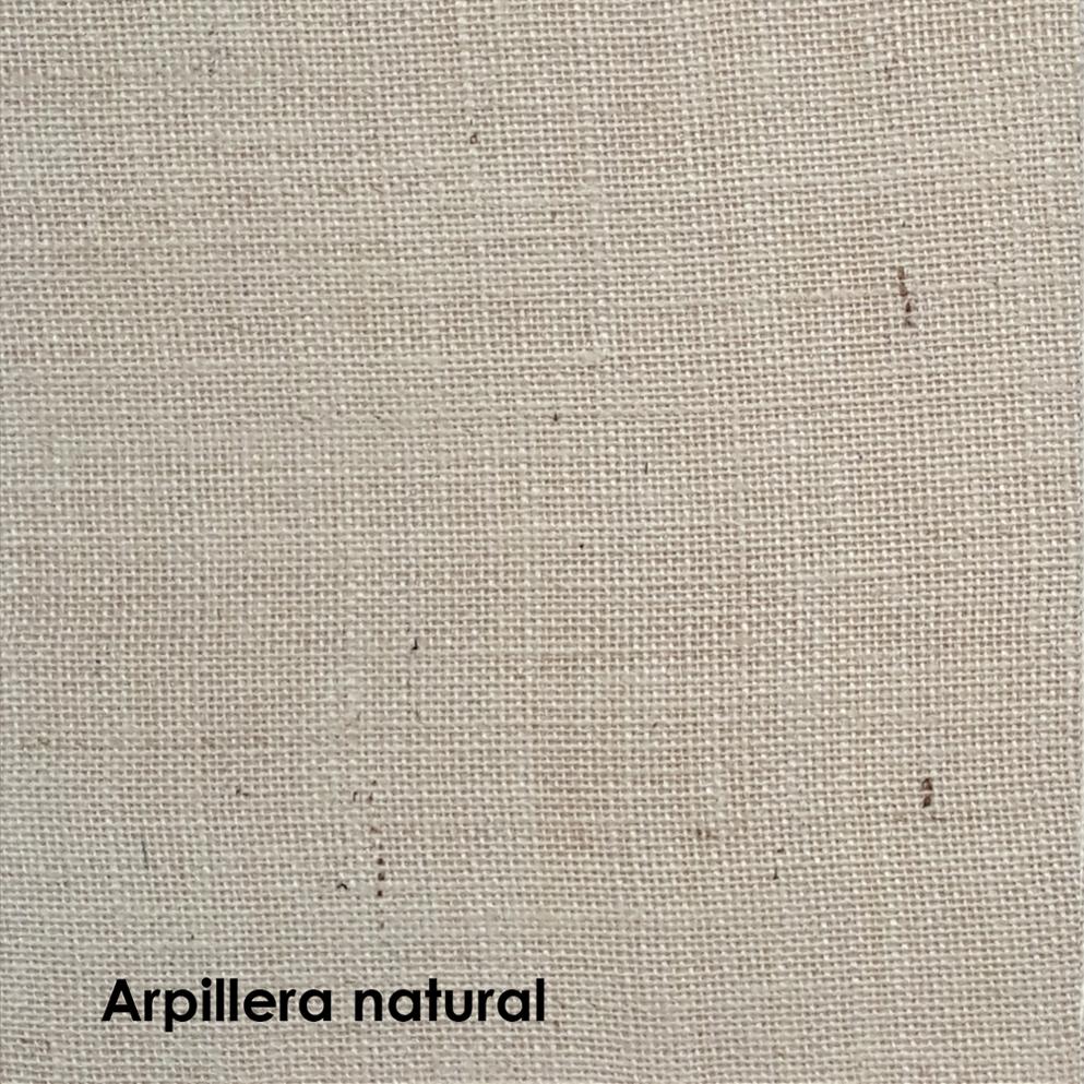 arpillera laqueada color natural