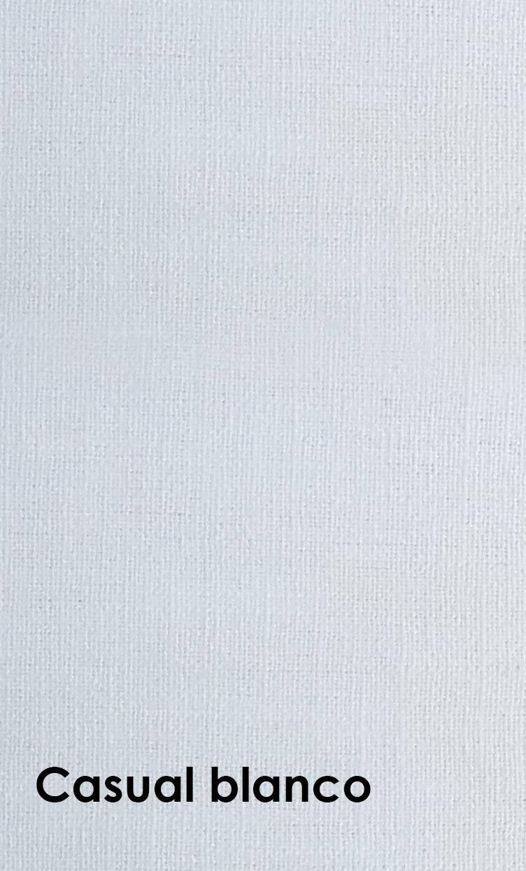 lino laqueado casual blanco