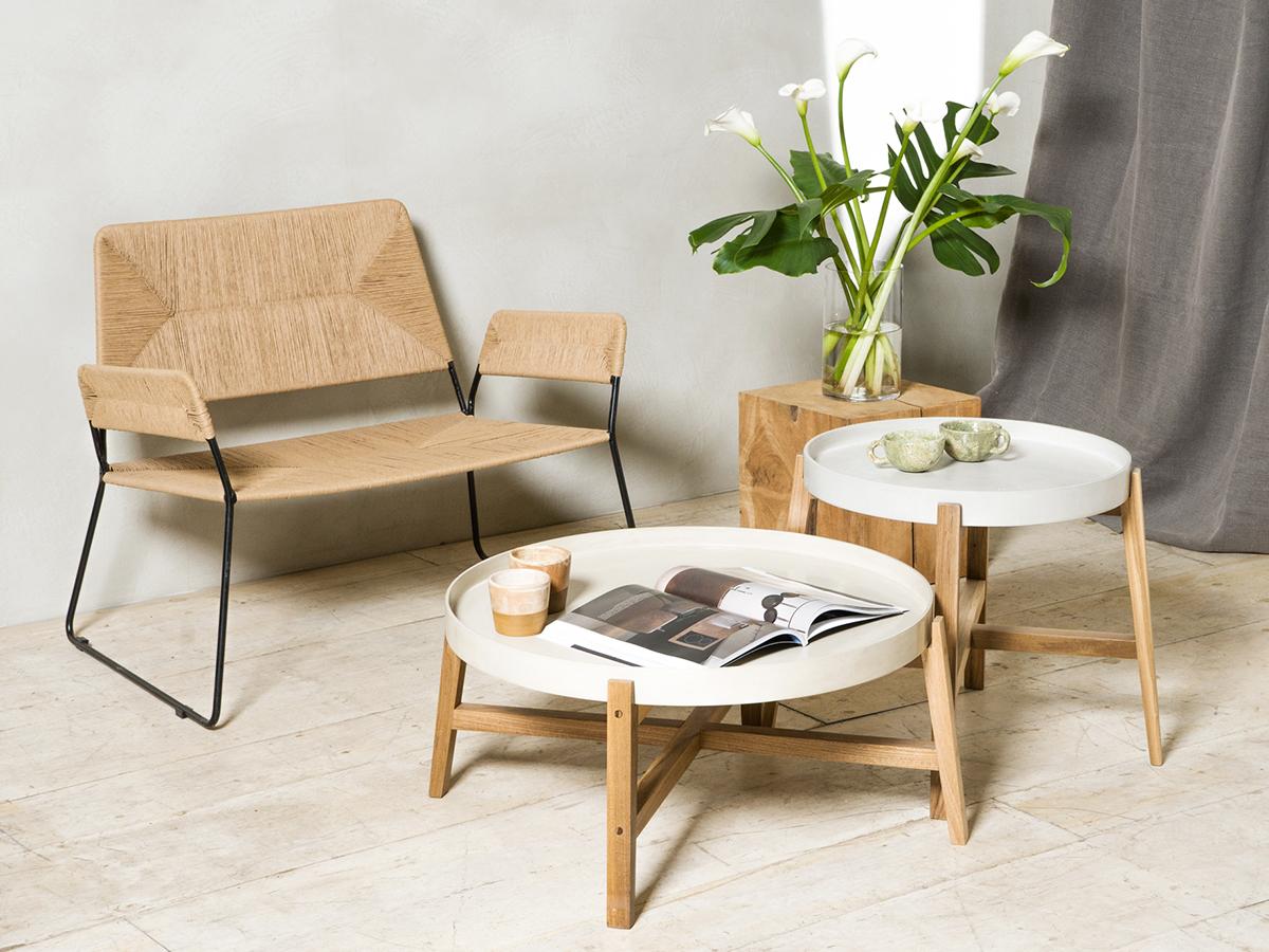 sillón tejido con hierro individual de interior